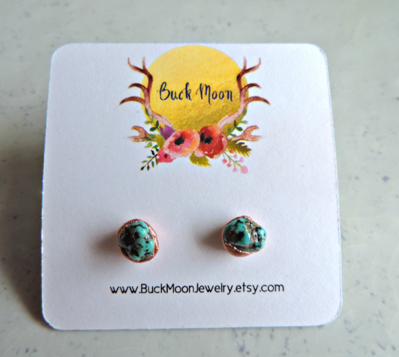 X: Turquoise Stud Earrings