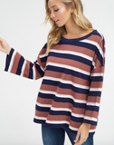 Addelyn Striped Top