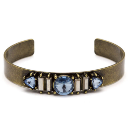 Multi Gem Cuff - Blue