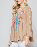 Tiff Embroidered Top