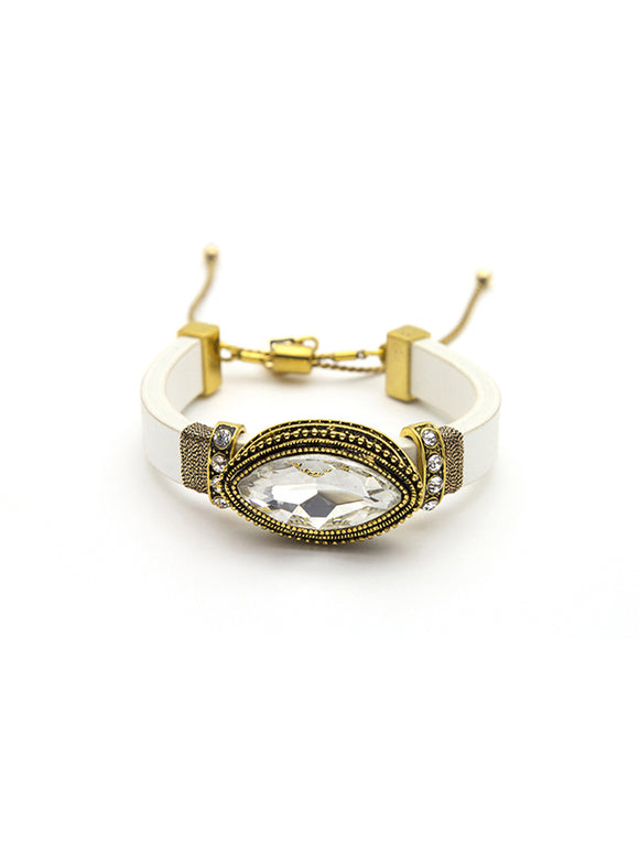 Shine On Marquise Bracelet - White