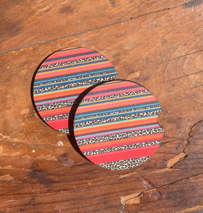 Serape/Cheetah Car Coasters