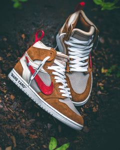 "Mars Yard Off White AJ1 ""Powered by VeChain ToolChain"" - Chase Shiel"