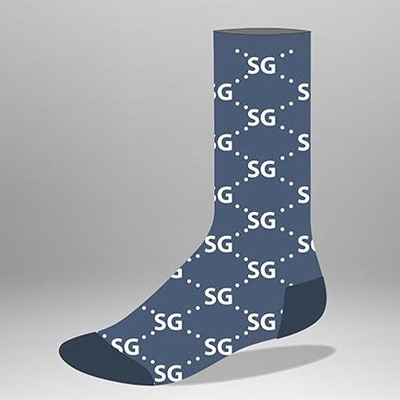 "SG Volume 1 ""Blue World"" Socks"