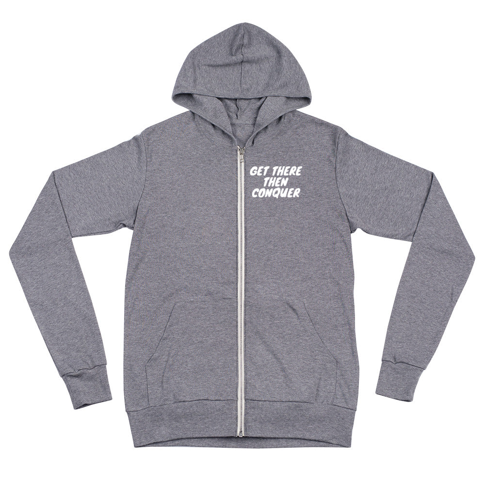 get-there-then-conquer - GTTC Hoodie Lightweight Zip - GET THERE THEN CONQUER -