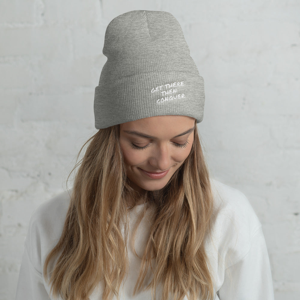 get-there-then-conquer - Cuffed Beanie - GET THERE THEN CONQUER -