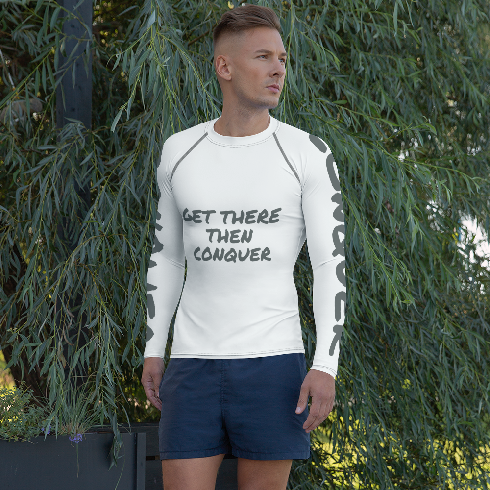 get-there-then-conquer - Workout GTT-CONQUER Men's Rash Guard - GET THERE THEN CONQUER -