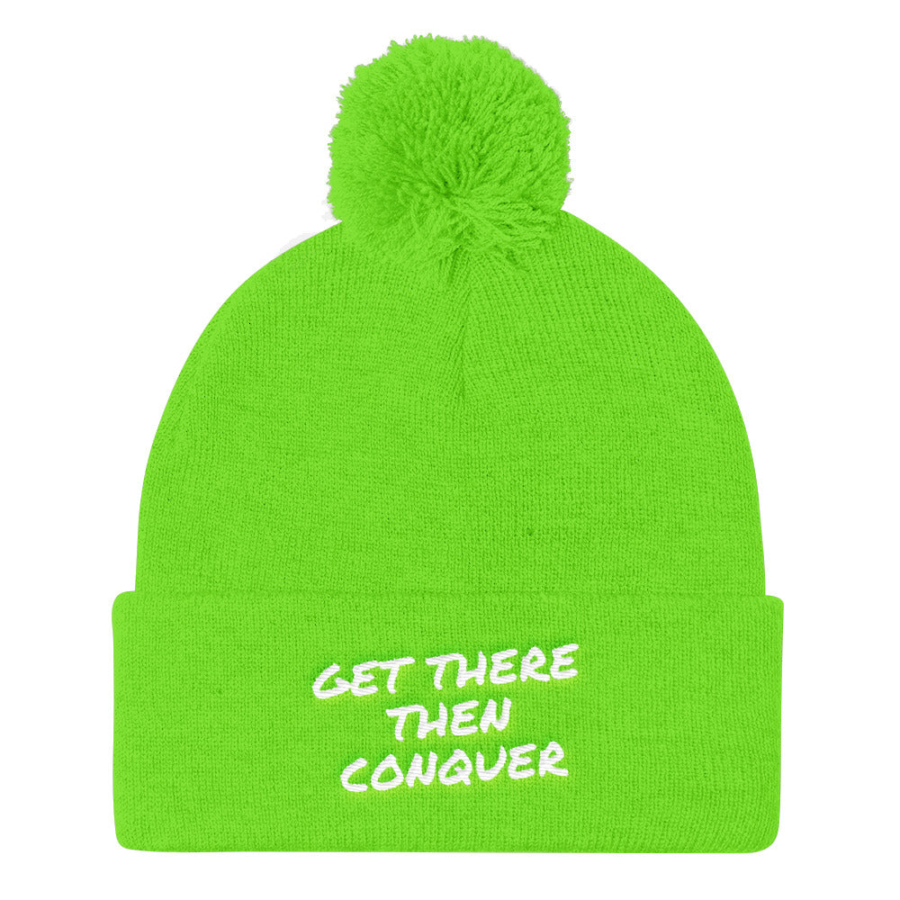 get-there-then-conquer - Pom Pom Knit Cap - GET THERE THEN CONQUER -