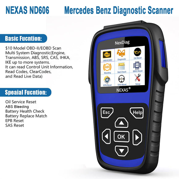 NEXAS ND606 MERCEDES MULTI-SYSTEM DIAGNOSTIC SCANNER