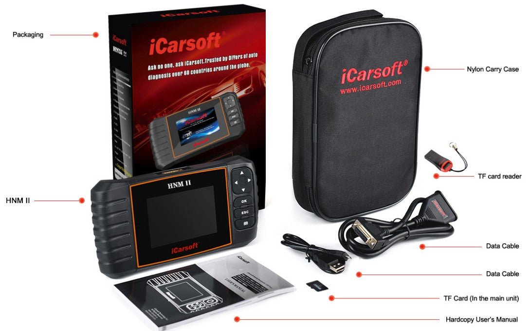 iCarsoft HNM II - Diagnostic Tool for Mazda, Mitsubishi