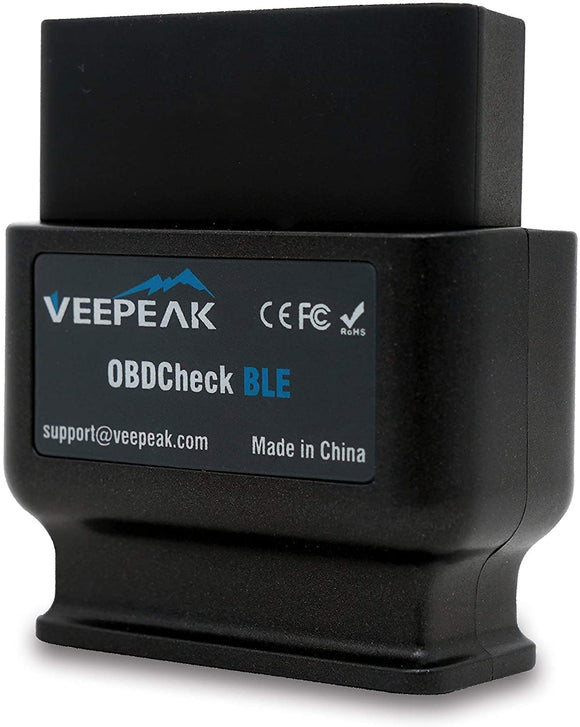 Veepeak OBDCheck BLE OBD2 Bluetooth Scanner - Supports Torque, OBD Fusion app