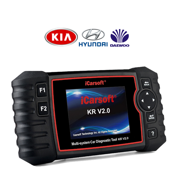 iCarsoft KR V2.0 - Korean Vehicles (Kia, Hyundai & Daewoo) Professional Diagnostic Tool