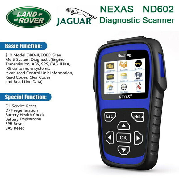 Nexas ND602 Land Rover & Jaguar Multi-System Diagnostic Scanner