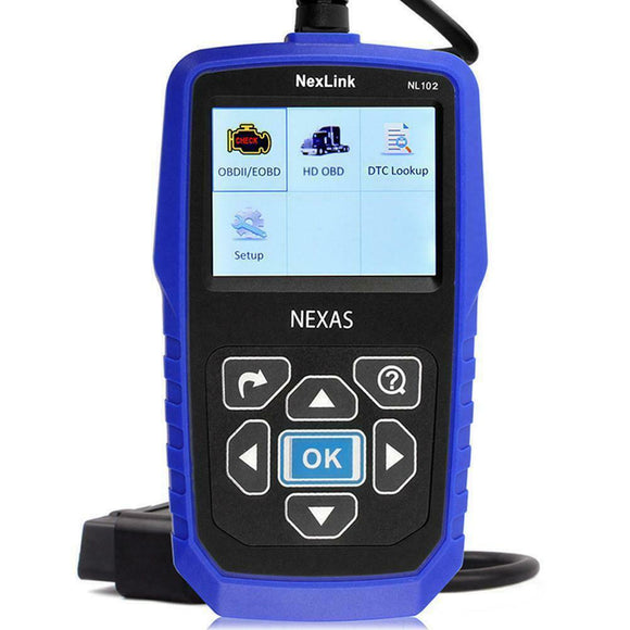 Nexas NexLink NL102 Heavy Duty OBD/ EOBD+CAN Diagnostic Tool, Car Diagnostic Tool, Nexas, ljmcardiagnostics, icarsoft, car scanner
