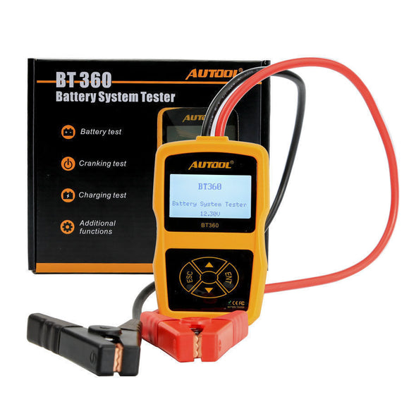 AUTOOL BT360 12V Battery System Tester & Health Checker