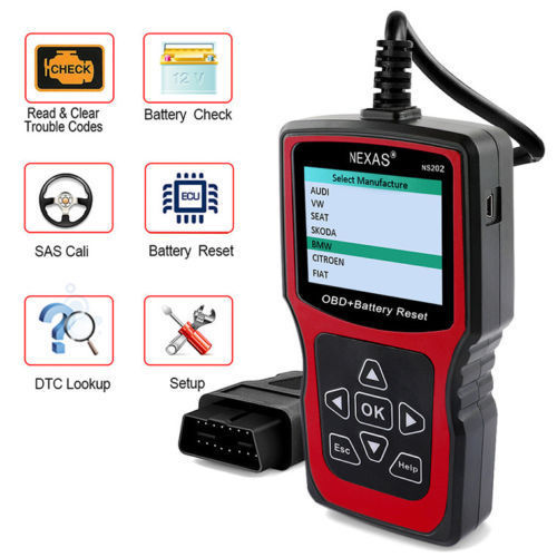Nexas NS202 Automotive Battery Registration BMS Reset And OBD Diagnostic Tool, Car Diagnostic Tool, Nexas, ljmcardiagnostics, icarsoft, car scanner