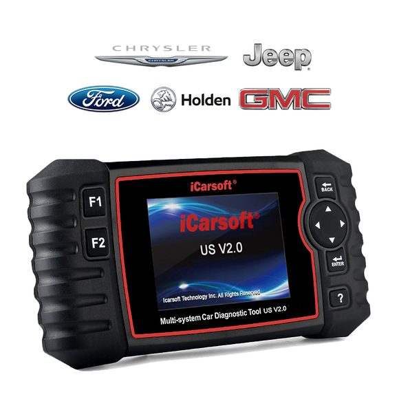 iCarsoft US V2.0 - American Vehicles (Ford, Holden, Chrysler, Jeep, GM, Chevrolet, Buick, Cadillac & GMC) Professional Diagnostic Tool