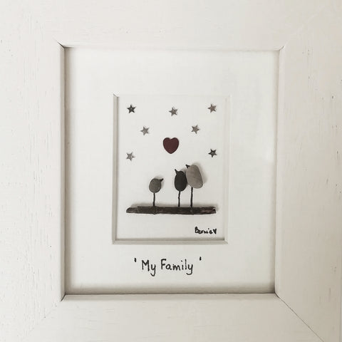 Pebble Art Picture (My Family, 3)