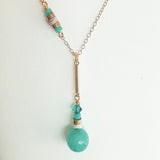 Jade, Amazonite & Gold necklace