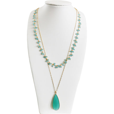 Aqua Chalcedony Necklace (Includes Free Shipping in Ireland!)