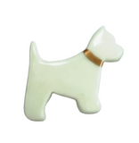 Porcelain Dog Brooch