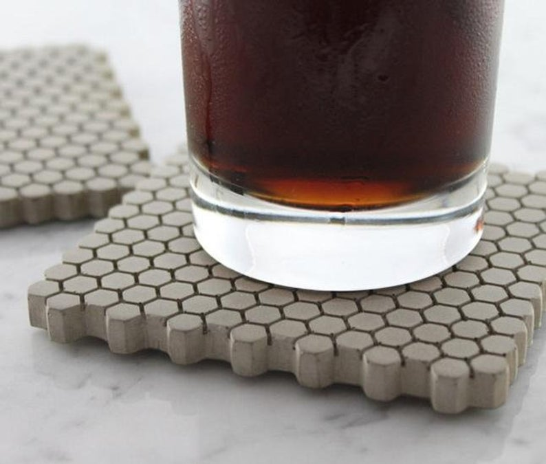 Beautiful Concrete Coasters That Help Elevate Your Living Area