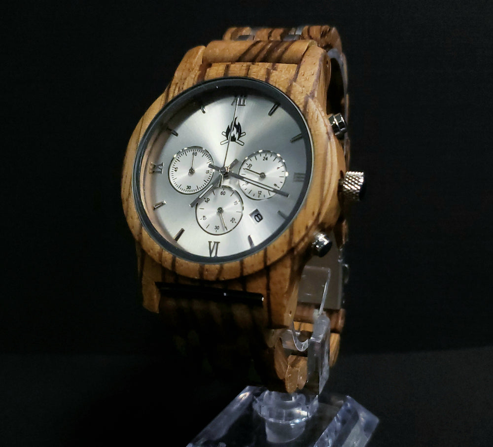 The Zebra Wood Chronograph