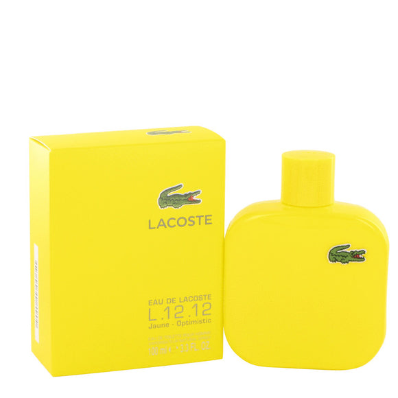 Lacoste Eau De Lacoste L.12.12 Jaune by Lacoste Eau De Toilette Spray 3.4 oz for Men