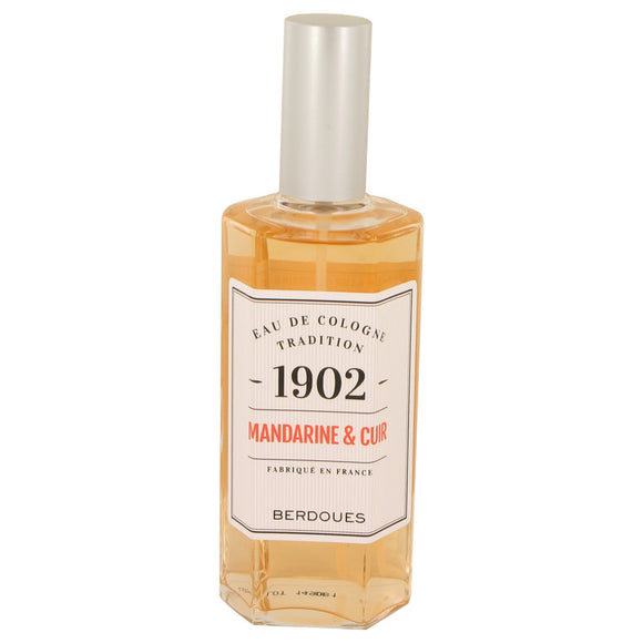 1902 Mandarine Leather by Berdoues Eau De Cologne Spray (Unisex-unboxed)) 4.2 oz for Men