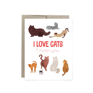 I Love Cats Card