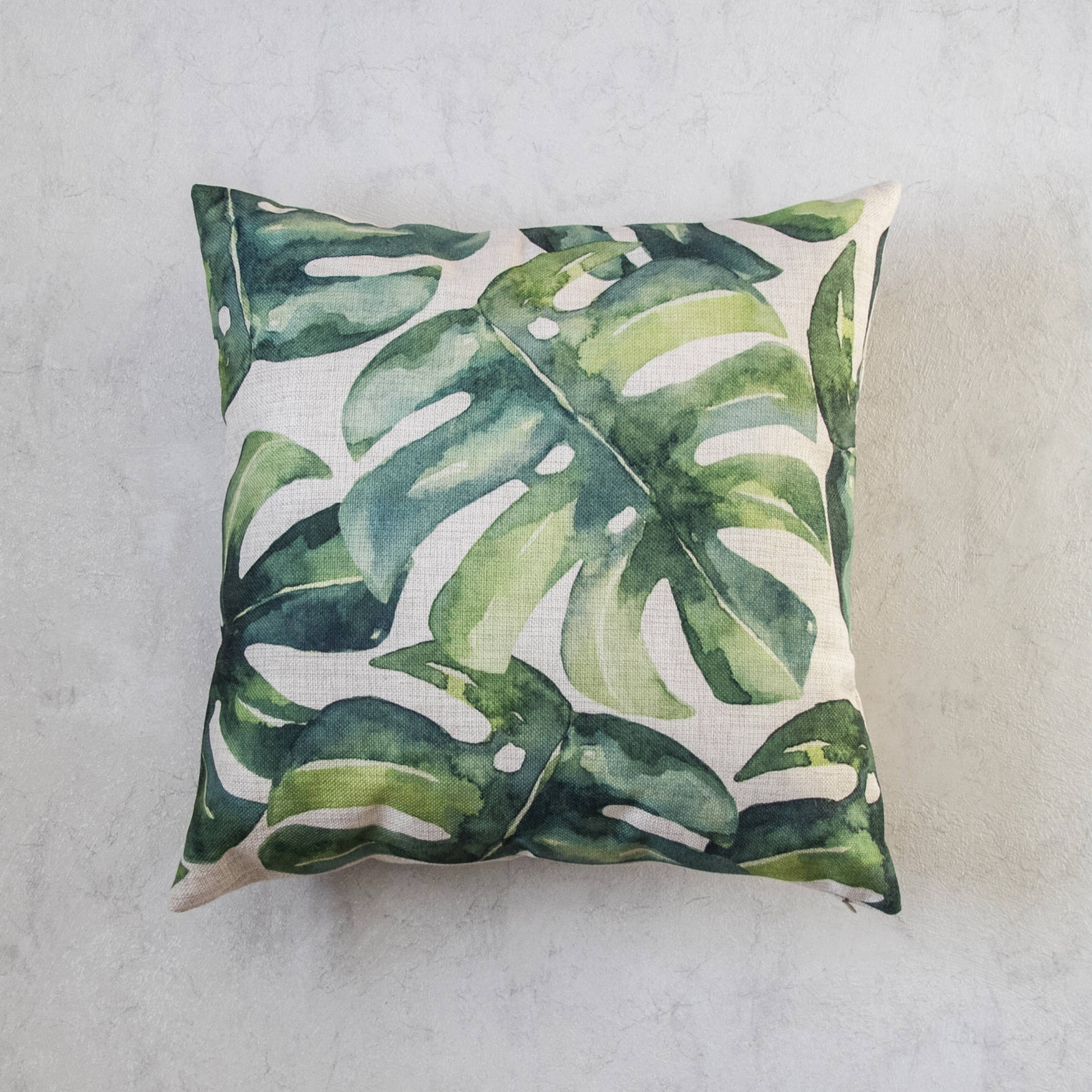 Monstera Leaf Pillow Cover
