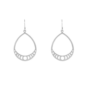 Silver Moon Phases Earrings
