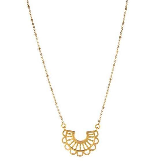 Gold Aztec Necklace