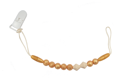 Gold Teething Soother Clip