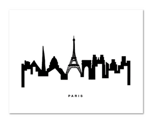 Paris Skyline Print