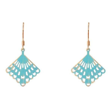 Blue Vintage Lace Earrings