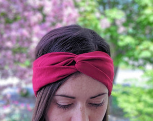 Pink Twist Workout Headband
