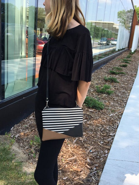 Striped Crossbody Bag