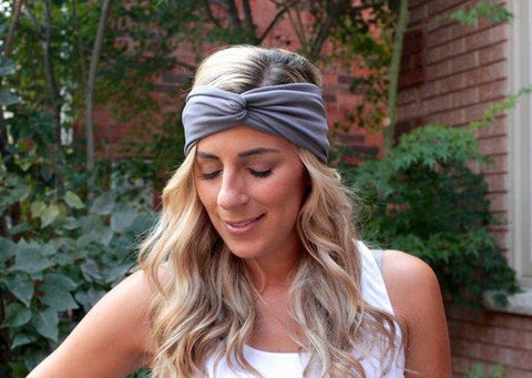 Grey Twist Workout Headband