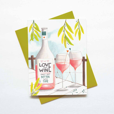 Love and Wine Card
