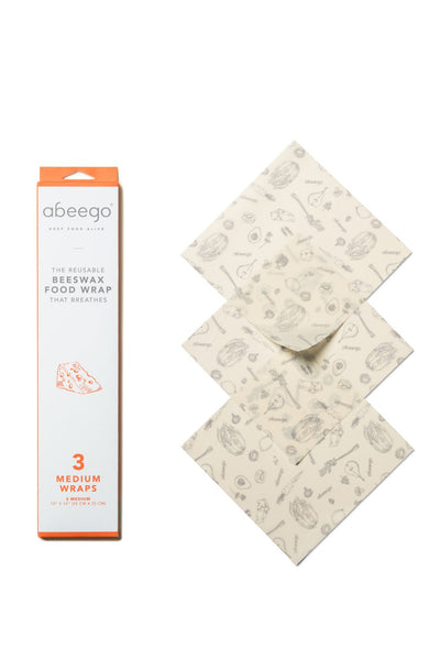 Beeswax Food Wrap - 3 Medium