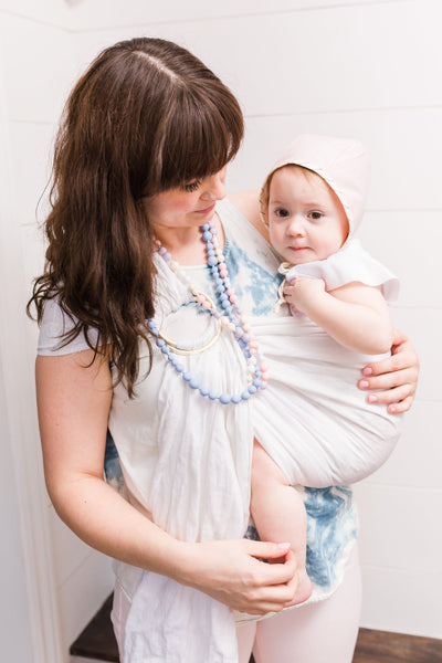 Mint Long Teething Necklace