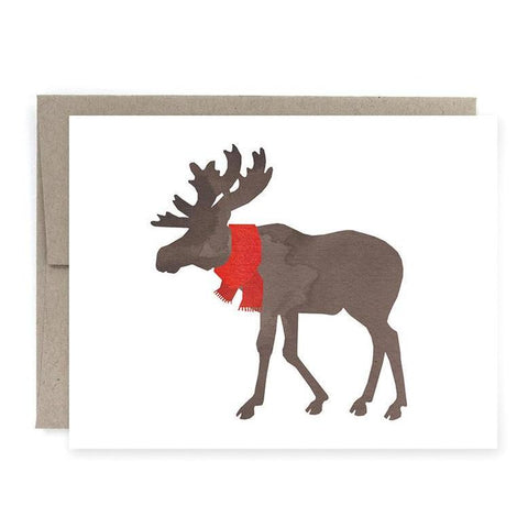 Moose Holiday Card