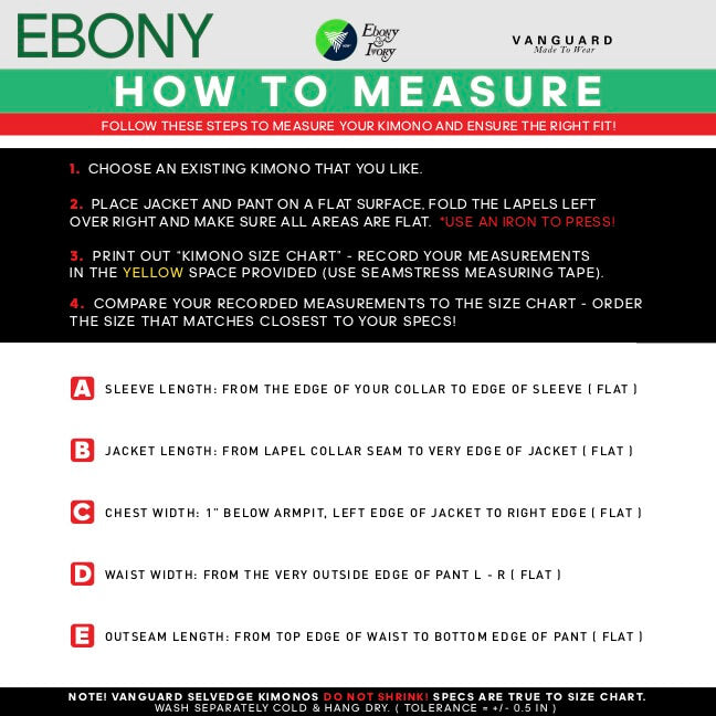 Ebony How to measure