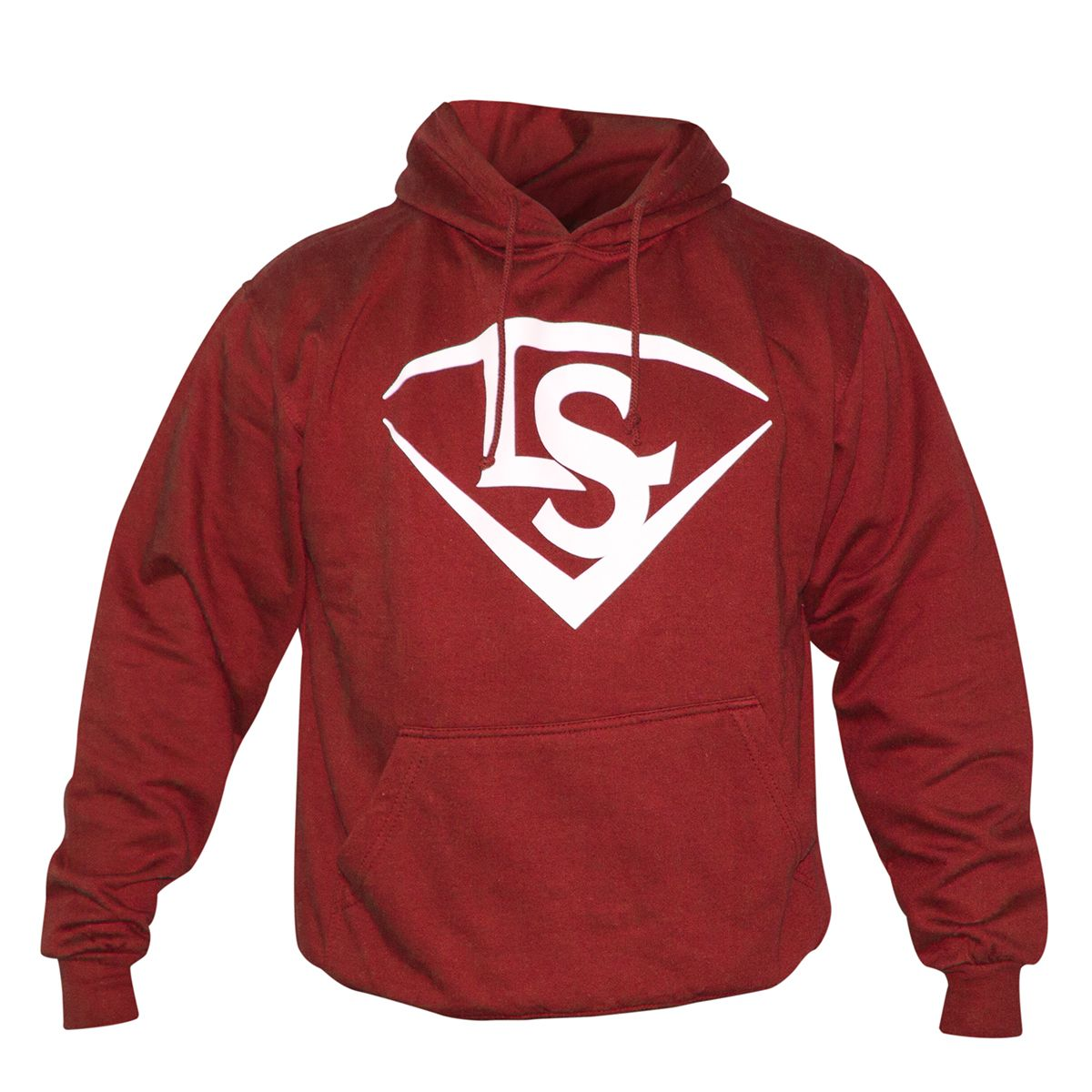 LS HOODIE - red/white