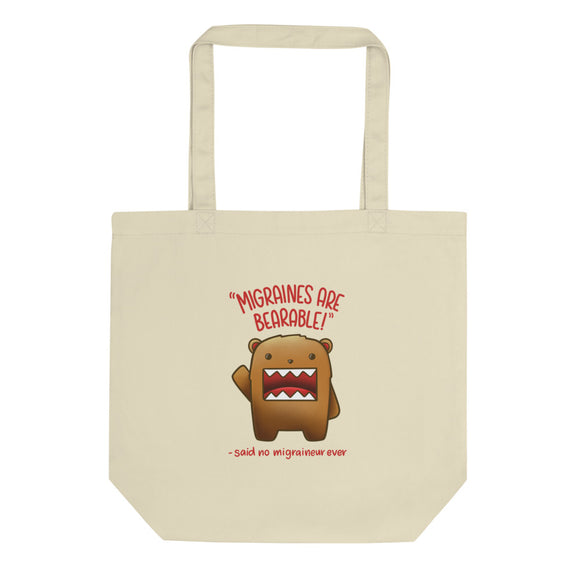 Migraines are BEARable 🐻- Tote bag
