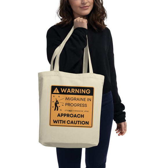 ⚠️Warning: Approach with Caution - Eco Tote Bag