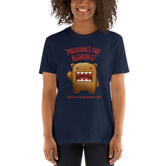 Migraines are BEARable 🐻 - Short-Sleeve Unisex T-Shirt