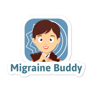 Migraine Buddy Logo - Bubble-free stickers