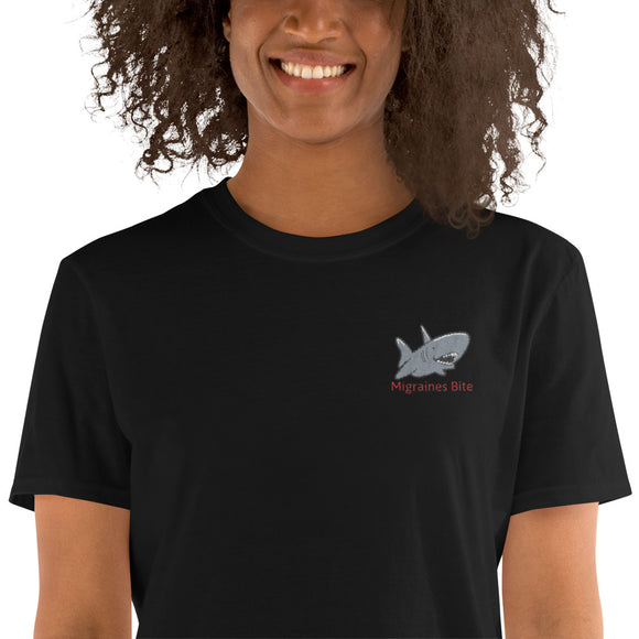 Migraines Bite 🦈 - Short-Sleeve Unisex T-Shirt